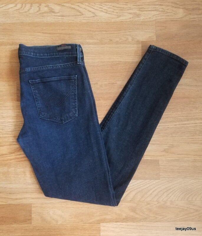 Women Citizens of Humanity Avedon Lowrise Skinny Leg Dark Stretch Jeans Size 31