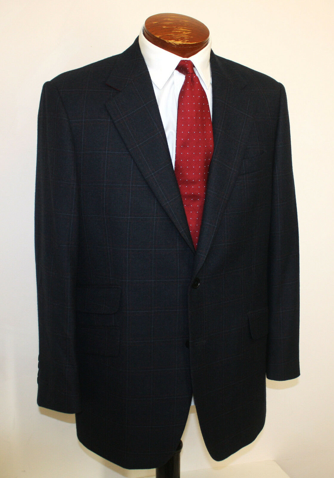 Brooks Bredhers Blazer Or Sport Coat Wool Cashmere Navy X Lardini  42 R