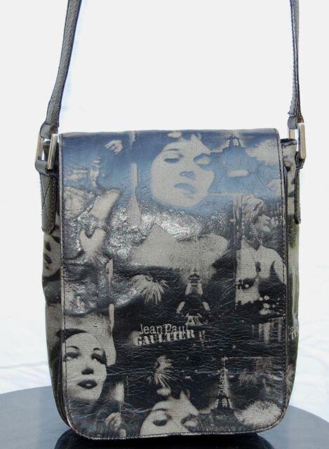 599b581510 Jean Paul Gaultier Vintage Dietrich Faces Leather Womans Small Bag Purse
