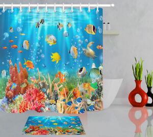 Underwater World Tropical Fish Turtle, Fish Bathroom Set