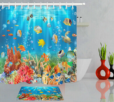 Underwater World Tropical Fish Turtle, Fish Bathroom Sets