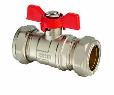 22mm Lever Arm Ball Valve - Butterfly Handle - Quality Flowflex Valve (6112)