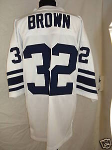 on sale adc68 19584 Details about College Away Variant ALL-AMERICAN Jim Brown  Syracuse/Cleveland Browns #32 Jersey