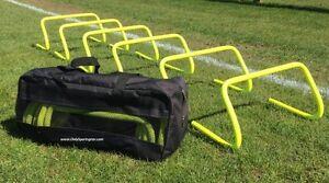 DOG-AGILITY-HURDLE-Set-of-6-Agility-Hurdles-9-034-Carry-Bag-EXERCISE-WEAVE-JUMP