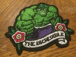 """The Incredible Hulk Embroidered Iron//Sew ON Patch 3.5"""" x 3"""" Marvel"""