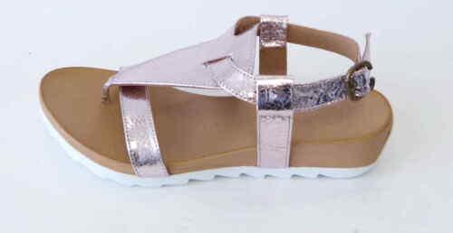 Maca Kitzbühel Zehentrenner Sandale 2213 rose rosegold metallic Dianette Leder