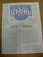 19/04/1958 Ilford v Barking  (Four Pages, Light Crease/Folded). Thanks for viewi