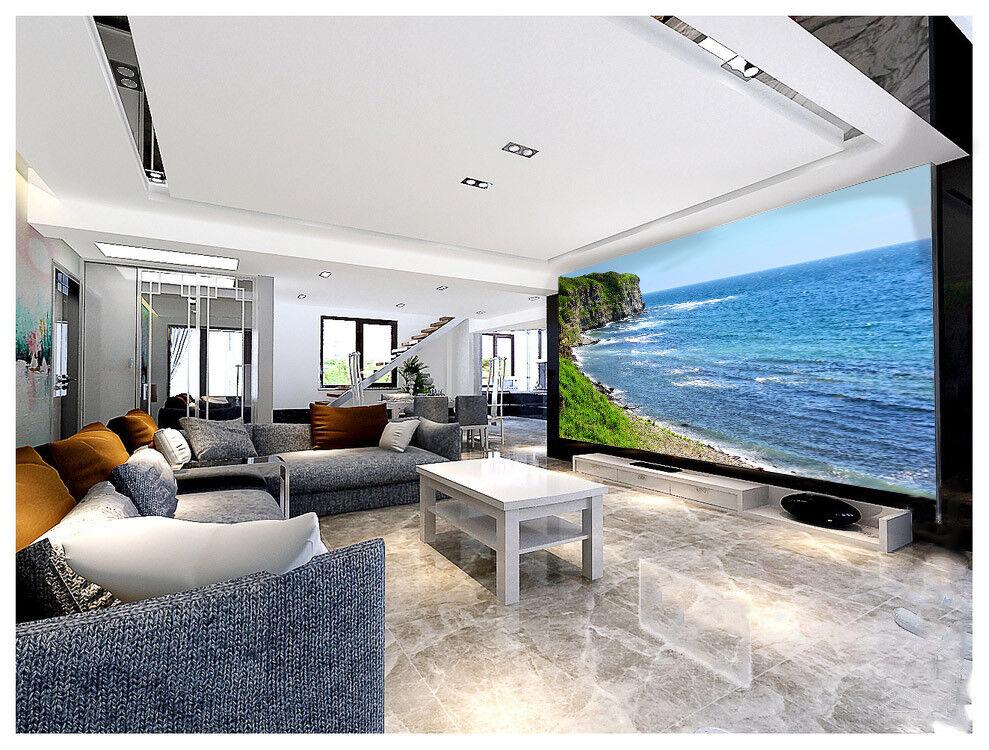 3D Klippen Strand 843 Tapete Wandgemälde Tapete Tapeten Bild Familie DE Summer