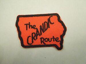 Iowa State Small Patch Shaped like IA Cornfields vintage puzzle type Sew Iron