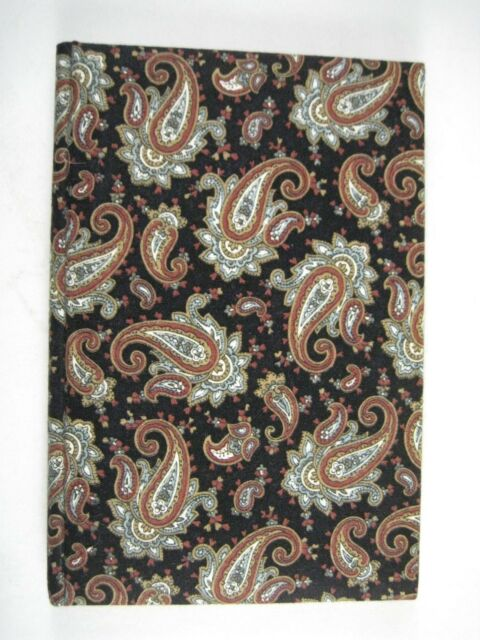 Anything Book Fabric Black Blank Books Fabric Paisley Brown Journal Diary  1991