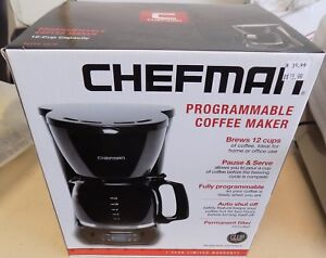 Chefman 12 Cup Capacity Programmable Coffee Maker New In Box W