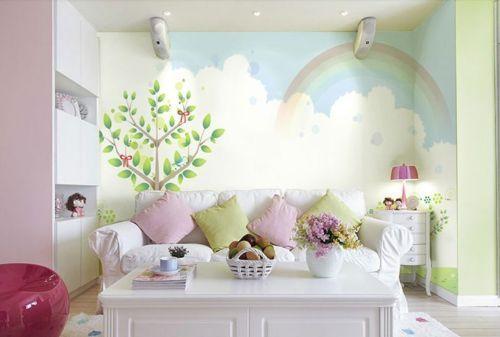 3D Arc-En-Arbre 5 Photo Papier Peint en Autocollant Murale Plafond Chambre Art