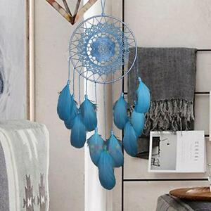 Dream-Catcher-Feather-Blue-Lace-Handmade-Car-Home-Wall-Hanging-Decor-Ornament