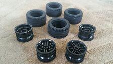 Lego Parts Pieces Wheel Black #56145 & Tire 43.2mm D. x 22mm ZR SET 4