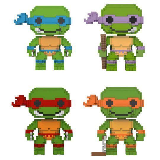 Funko 8-Bit Pop  - Teenage Mutant Ninja Turtles Figuras De Vinilo-Juego de 4-Nuevo