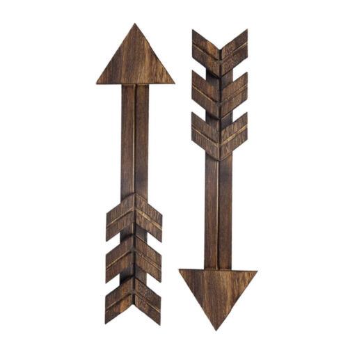2//3//4pcs Wooden Plaques Arrows Rustic Door Signs Wall Hanging Arrows Wall Decor