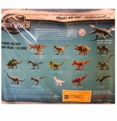 JURASSIC WORLD BATTAGLIA danni 15 MINI DINO Confezione Multipla 15 Dinosauri AFFARE