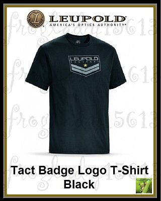 LEUPOLD Pro Gear Tact Badge Logo Tee Black Short Sleeve T-Shirt