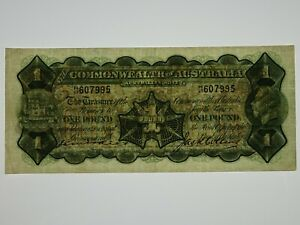 1926-One-Pound-Kell-Collins-Banknote-in-Very-Fine-Condition