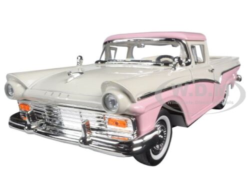 1957 FORD RANCHERO PICKUP TRUCK PINK 1:18 DIECAST MODEL BY ROAD SIGNATURE 92208