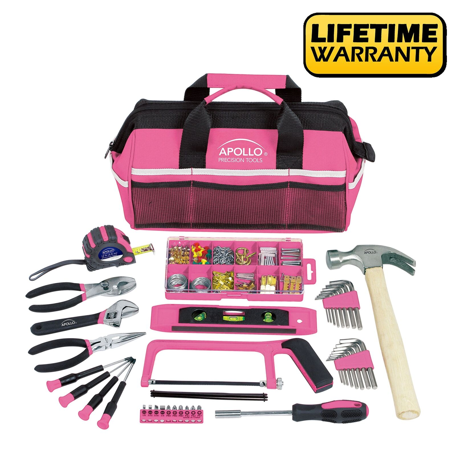 Apollo Tools DT0020P 201 Piece Household Tool Kit with Most Reached Tools in a