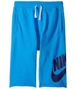 7acd8f9def Nike Big Kids' FRENCH TERRY ALUMNI Shorts Light Photo Blue 728206 ...