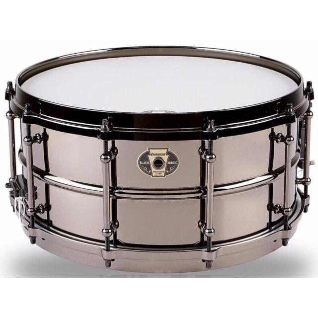 "Ludwig LW6514 Black Magic Snare Drum, 6.5"" x 14"", Black Nickel"