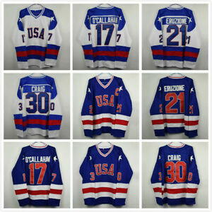 Ice-Hockey-Jersey-Vintage-1980-Miracle-on-Ice-Team-USA-17-21-30-Blue-White