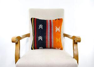 Tribal-Art-Kilim-Pillow-Colorful-Bohemian-Decor-Eclectic-Turkish-Cushion-Cover