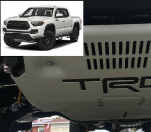 Premium Matte Black Vinyl Decals for 2017-2021 Tacoma TRD Pro - Skid Plate