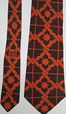 -AUTHENTIQUE cravate cravatte HERMÈS   100% soie  neuve  vintage