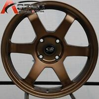 17x8 +35 Rota Grid Bronze 4x114.3 Wheel Fit 240sx Accord Prelude Versa Cube Rim