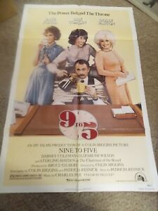 "NINE TO FIVE(1980)DOLLY PARTON ORIGINAL ONE SHEET POSTER 27""BY41"" NICE!"