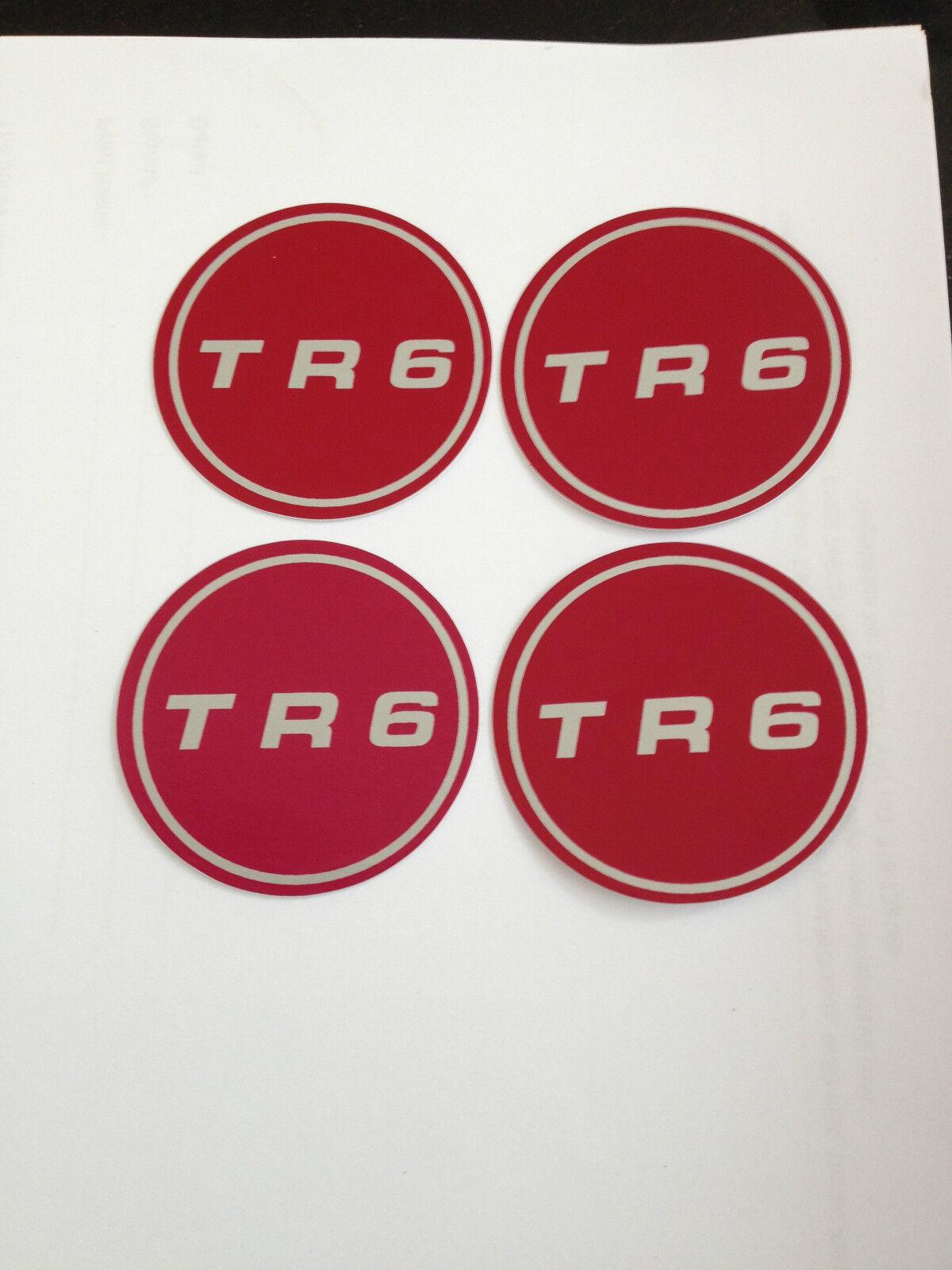 627502RP OR 627502S TRIUMPH TR6 WHEEL CENTRE BADGE MOTIF CAR SET OF 4 PART NO