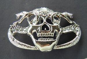 Human-Skulls-Belt-Buckles-Style-Rhinestones-Skull-Skeletons-Snakes-Buckle