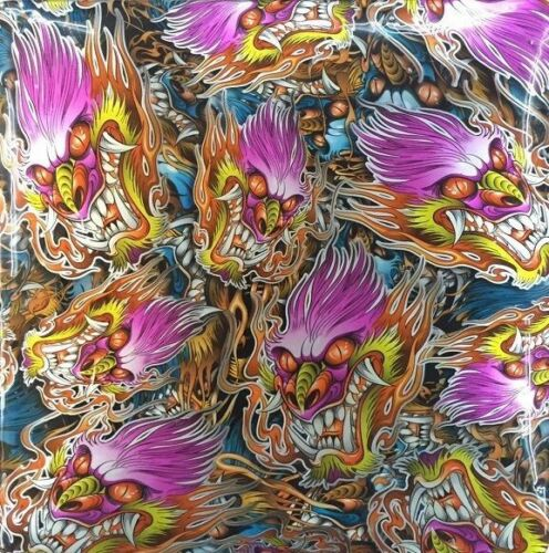 HYDRO DIPPING WATER TRANSFER HYDROGRAPHIC FILM CHINESE DRAGON PINK 1M