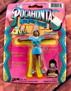 Pocahontas-Indio-Princesa-Muneca-Flexible-Juguete-Vintage-Jaru-1994-Nativo
