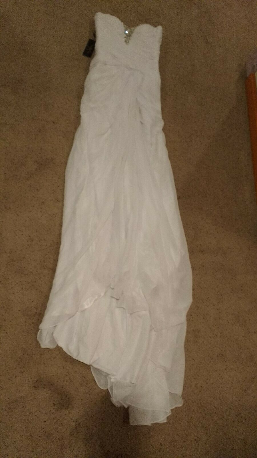 *NEW* Bailey Bridal Strapless Rhinestone Satin Chiffon Custom Wedding Dress