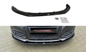 CUP Spoilerlippe SCHWARZ für Audi S3 Typ 8P FL Frontspoiler Lippe Schwert ABS V2