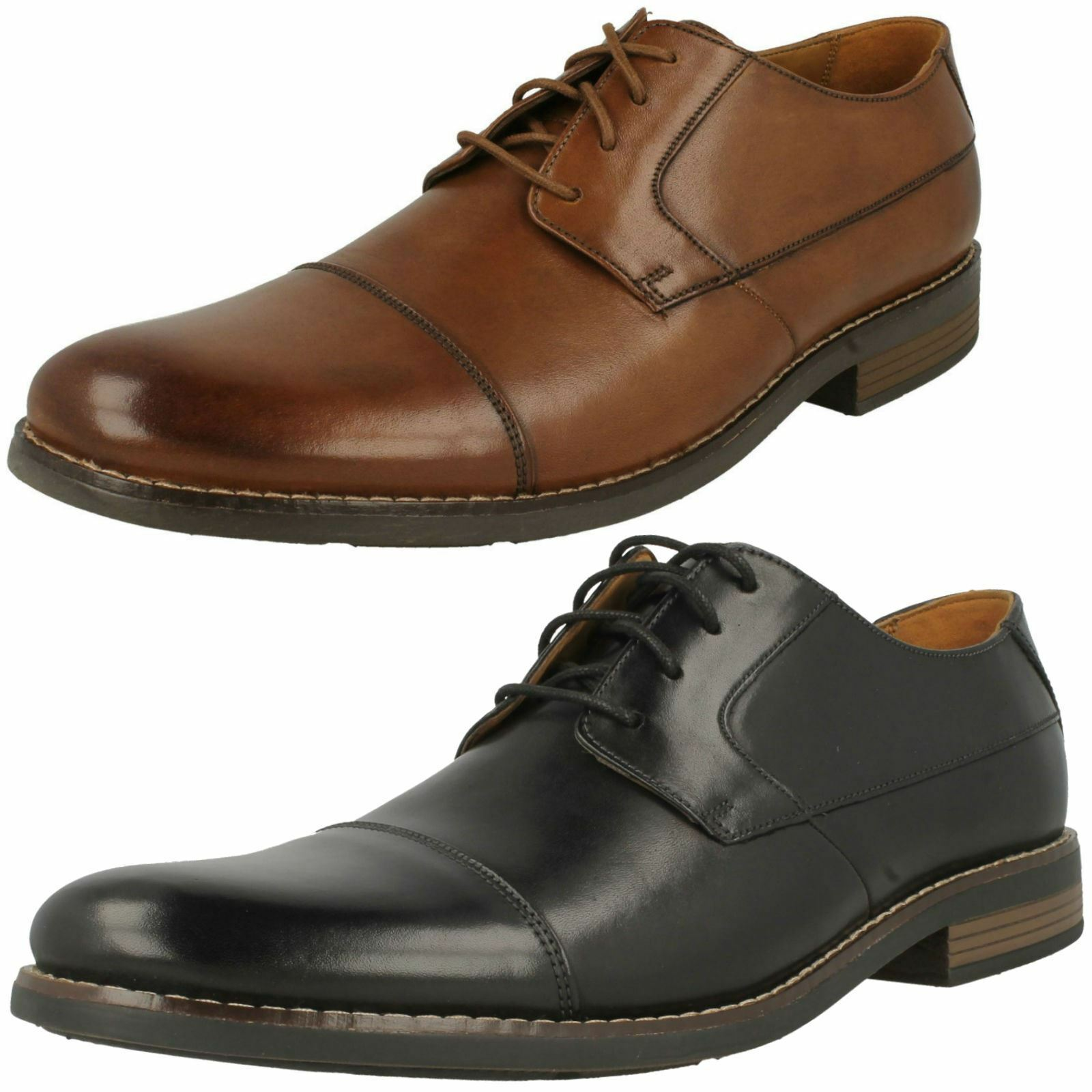 Da Uomo Clarks Smart Lace-Up Scarpe Becken Cap