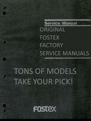 Factory Original Fostex Service Manuals PICK ONE! TONS TO CHOOSE FROM