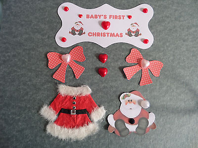 Card making embellishments for Christmas