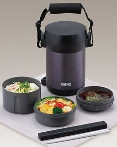 THERMOS-JBG-1801-Bento-Lunch-Box-Hot-Lunch-Plastic-amp-Stainless-Steel-Japan-New