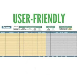 2018 ebay inventory profit sales monthly yearly tracker excel