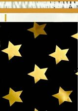 1 1000 19x24 Black Gold Stars Poly Mailer Shipping Bags Fast Shipping