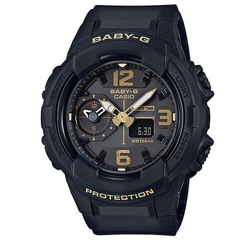 Casio Baby-G Unisex Black/Gold Analogue/Digital Watch BGA230-1B BGA-230-1BDR