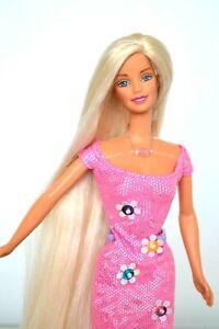Refroidir-Pinces-Barbie-Poupee-1990-039-s-Extra-de-Long-Cheveux-Parfait-et-Cadeau