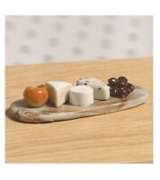 Dolls House Miniature Cheese Board With Selection Of Cheeses & Fruit 12th Scale
