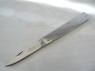 Coltello Sfilato Siciliano Manico Acciaio Lucido. Frosolone Knife Messer Couteau Per Godere Di Alta Reputazione A Casa E All'Estero