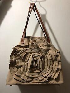Valentino-Petal-Rose-Tote-Shoulder-Bag-Beige-Cream-Handbag